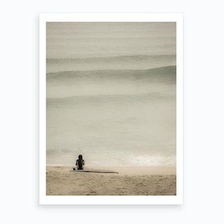 Porthmeor Surfer Art Print