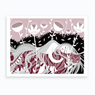 Rapunzel & The Tiger Art Print
