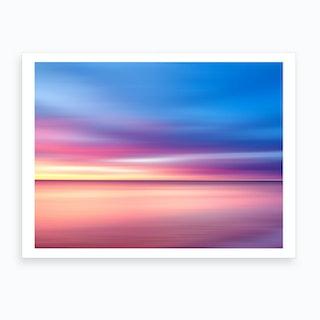 Abstract Sunset V Art Print