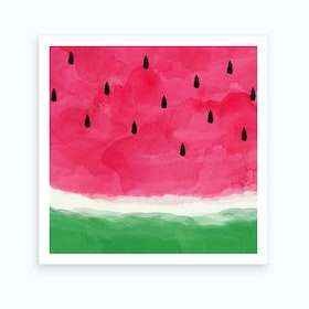 Watermelon Abstract Square Art Print