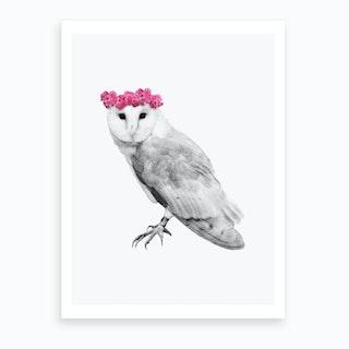 Dressy Owl Art Print