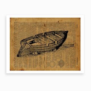 Empty Boat Art Print