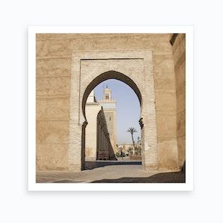 Marrakech Mosque Archway Art Print