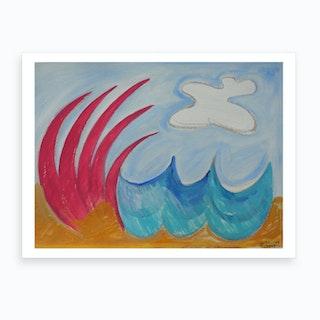Wormiston Sea Art Print