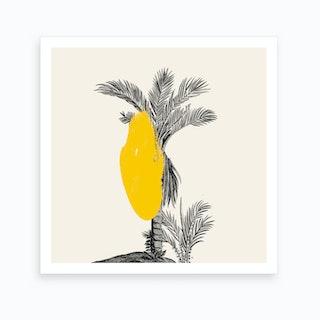 Tropical Tree Yellow Art Print