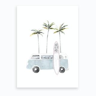 Surfing Time Art Print