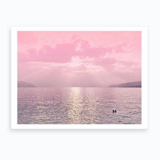 Kiss In The Lake Art Print