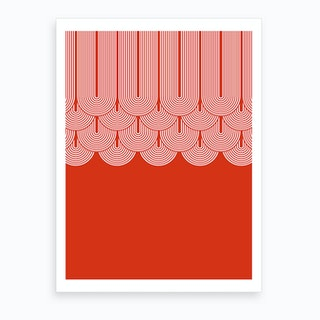 Red Geometry Art Print