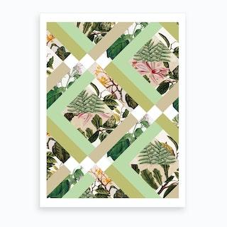 Cubed Vintage Botanicals Art Print