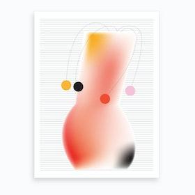 Vase With Dots Art Print