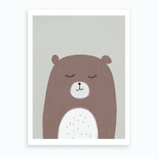 Sleepy Bear Art Print