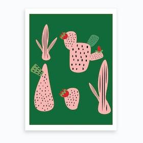 Id Mod Cactus Green Art Print