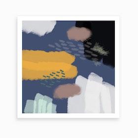 The Deep Blue World Art Print