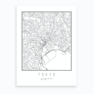 Tokyo Japan Street Map Art Print