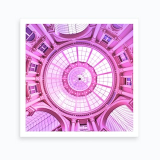 Pink Architecture Monument Art Print