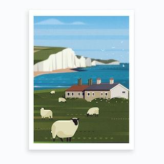 Seven Sisters Cliff Art Print