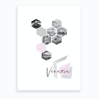 Urban Design Venezia Pink Art Print