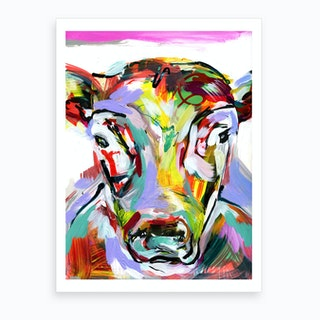 Abstract Cow Art Print