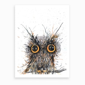 Wide Eyed Owl Art Print