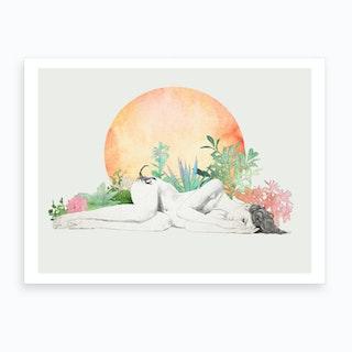Born In The Sun A Scorpio Study Art Print