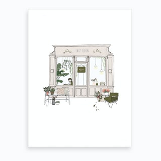 Cafe Fleur Art Print