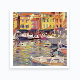 Harbour At Cassis Art Print