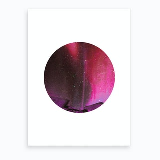 Mauve Moon Art Print