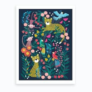 Boho Jungle Art Print