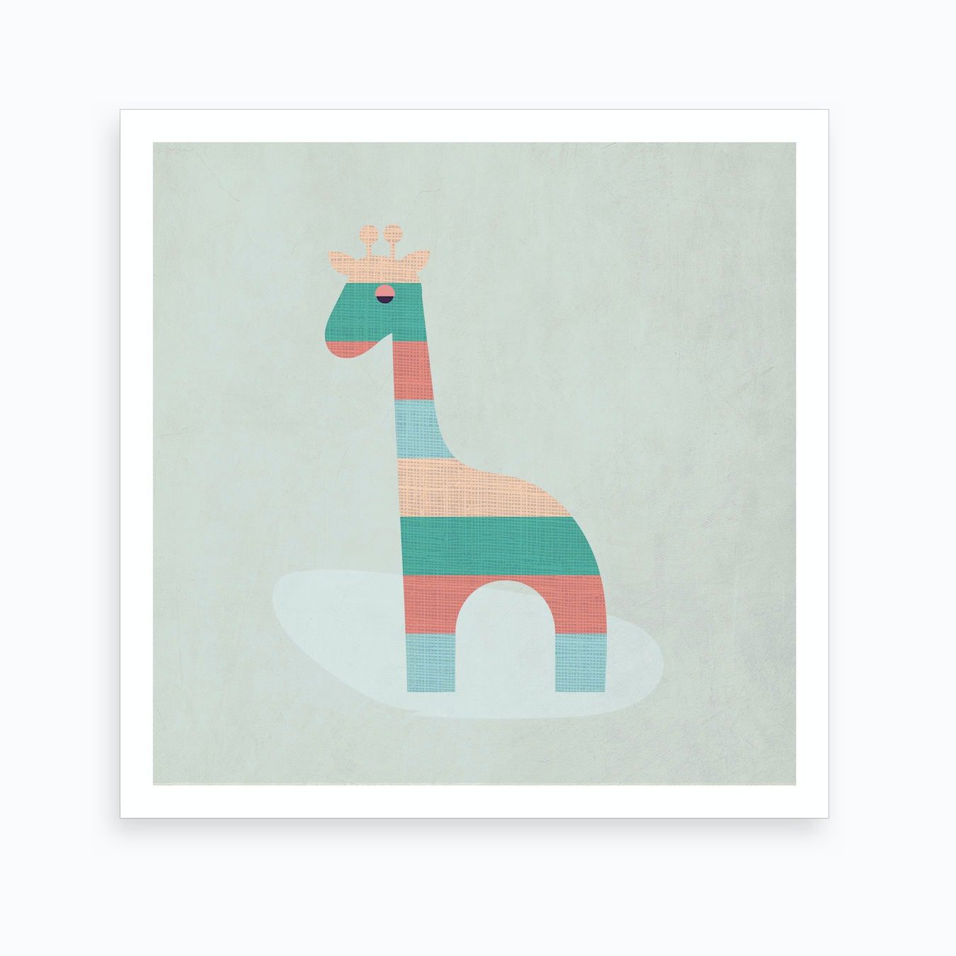 Scandi Giraffe Nursery Art Print By Kim