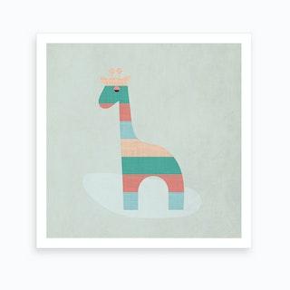 Scandi Giraffe Nursery Art Print