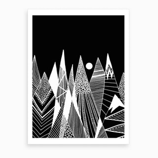 Patterns In The Mountains Art Print