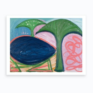 Loch And Trees Art Print