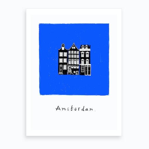 Amsterdam In Bleue Art Print