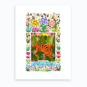 Tiger Garden Art Print