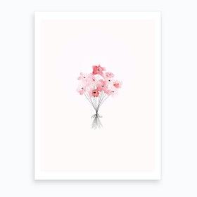 Bunch Of Flowers Art Print