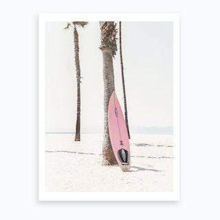 Pink Surf Art Print