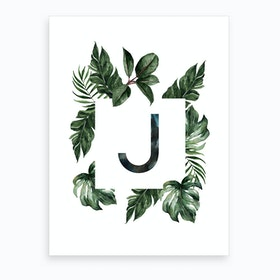 Botanical Alphabet J Art Print