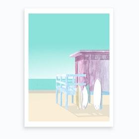Salt & Surf   Surf Club Art Print