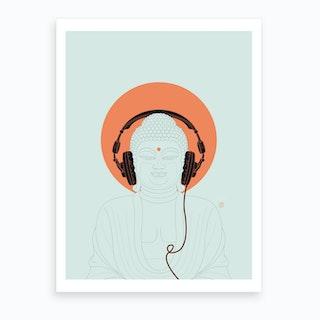 Listen To Om Art Print