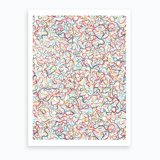 Water Drawings White Art Print