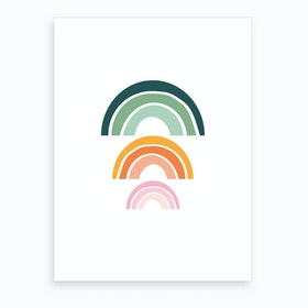 Triple Rainbow 2 Art Print
