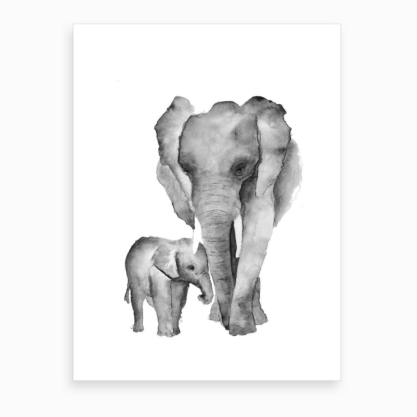 Elephant Mama Art Print