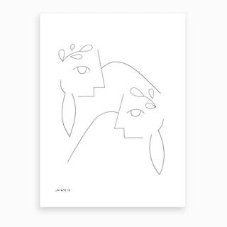 Lovers Lay Down Art Print