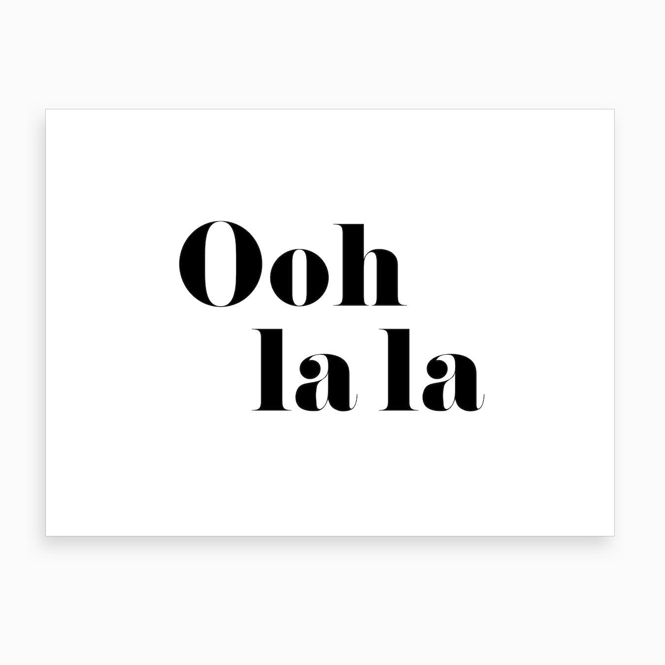 Oo La La   Black Art Print