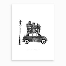 Le Chic Vintage Car Art Print