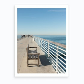 Hermosa Beach Seat Art Print