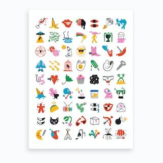 Relevant Symbols Art Print