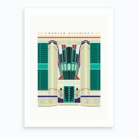 The Hoover Building London Art Print