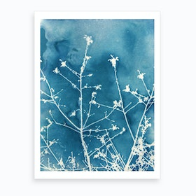 Blue Sparkle Art Print