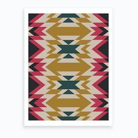 Navajos Pattern Art Print